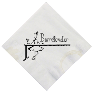 Listen to THE DANCING HOUSEWIFE episode of THE BARRETENDER